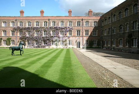 First Court in Jesus College Cambridge - Stock Photo