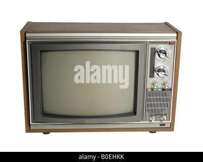 Old Tube Television CRT TV - Stock Photo