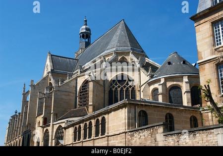 Rear of St Etienne du Mont church Latin Quarter Paris France - Stock Photo