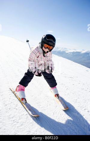 Girl skiing - Stock Photo