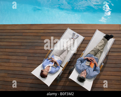 Mature couple relaxing - Stock Photo