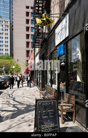 Cafe on Beach Street, Tribeca, Manhattan, New York City - Stock Photo