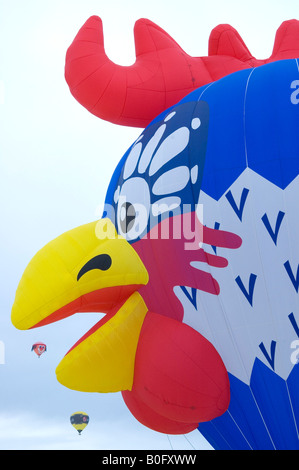 International Hotair Ballon Festival in Chateau d'Oex Vaud Switzerland - Stock Photo