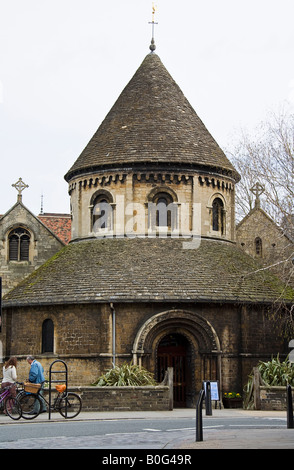 The Holy Sepulchre, the round Church Cambridge. - Stock Photo