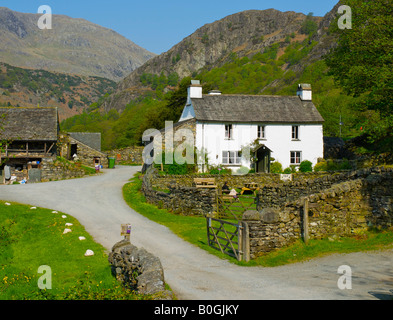 Yew Tree Farm near Coniston, onced ownd by Beatrix Potter, Lake District National Park, Cumbria, England UK - Stock Photo
