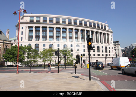 London England Unilever House at 100 Victoria Embankment built in 1931 but recently renovated in 2007 - Stock Photo