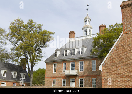 Governor's Palace, Colonial Williamsburg Virginia - Stock Photo