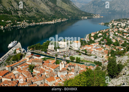 Town of Kotor, Kotor Bay, Unesco World Heritage Site, Montenegro, Crna Gora, Balkans - Stock Photo