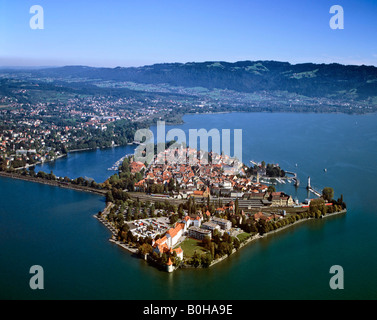Lindau on Lake Constance, Swabia, Bavaria, Germany - Stock Photo