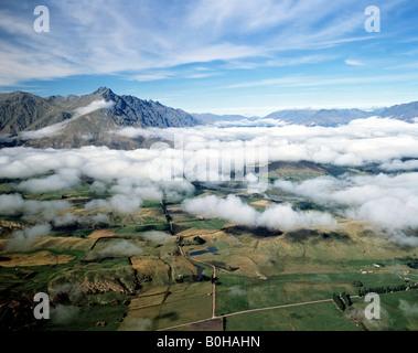 Landscape around Lake Wakatipu, Queenstown, South Island, New Zealand - Stock Photo