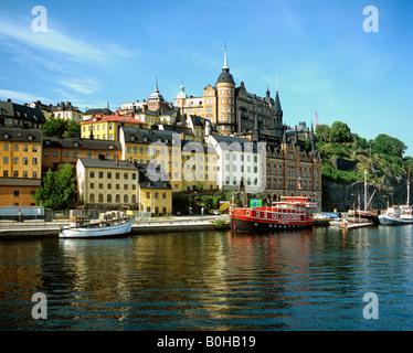 Restaurant ship, Stockholm, Sweden, Scandinavia - Stock Photo
