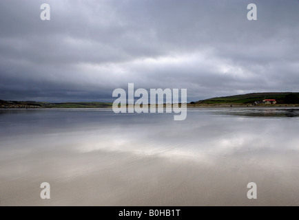 Poppit Sands near Cardigan in West Wales - Stock Photo