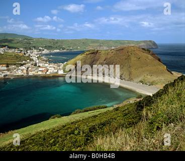 Horta on Faial Island, Azores, Portugal - Stock Photo