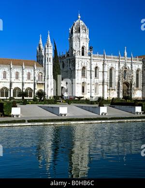 Mosteiro dos Jeronimos, Hieronymites Monastery, Late Gothic period, Belem, Lisbon, Portugal - Stock Photo