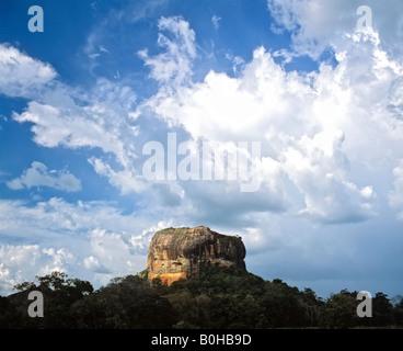 Sigiriya or Lion's Rock monolith, rock fortress, UNESCO World Heritage Site, Sri Lanka - Stock Photo