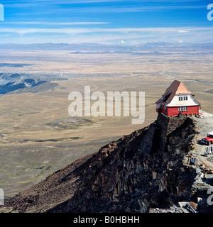 House on the Altiplano, high plateau near La Paz, Bolivia - Stock Photo