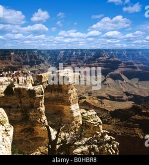 Grand Canyon, lookout point, Colorado, Colorado Plateau, Arizona, USA - Stock Photo
