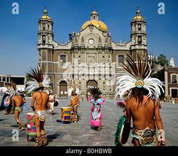 Our Lady of Guadalupe Basilica, cathedral, Indios, Mexico City, Mexico, Central America - Stock Photo