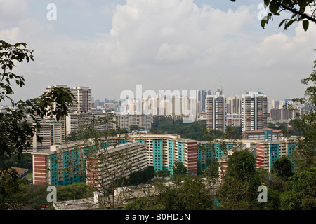 High-rise apartment buildings in Singapore, Southeast Asia