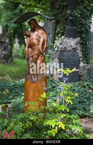 Grave of Dr. phil. Thaddaeus Siber, 1774-1854, mathematician, Alter Suedfriedhof, old cemetery in Munich, Bavaria, - Stock Photo