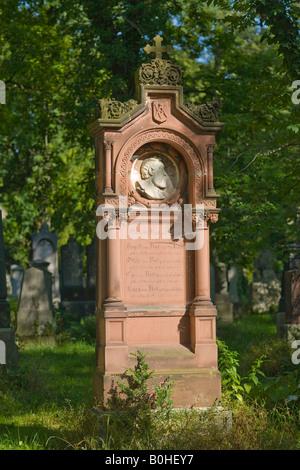 Grave of Richard Jakob August von Voit, 1801-1870, architect, Alter Suedfriedhof, old cemetery in Munich, Bavaria, - Stock Photo