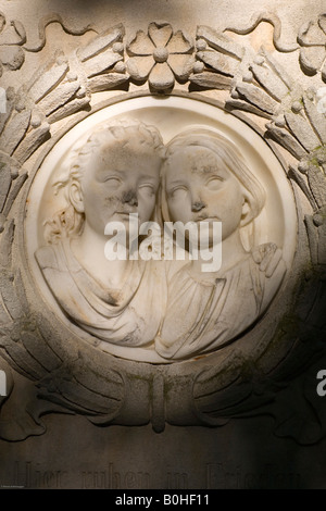 Grave of the Kluckhohn siblings, Alter Suedfriedhof, old cemetery in Munich, Bavaria, Germany - Stock Photo