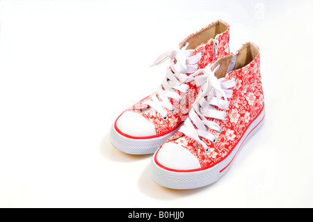 Multicoloured trainers, sneakers for girls - Stock Photo