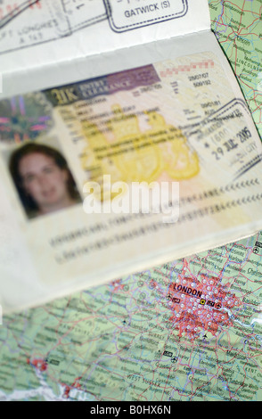 Visa requirements to work and live in the United Kingdom 12 05 2008 - Stock Photo