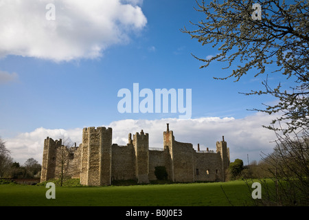 Framlingham Castle in the spring, Suffolk, England - Stock Photo