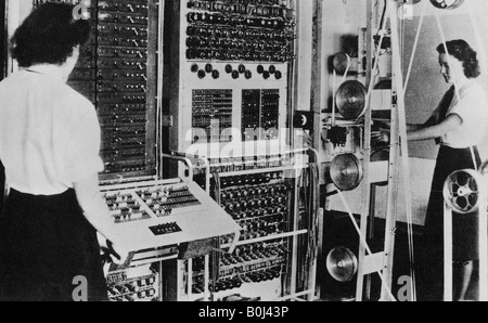 COLOSSUS  computing machine used to read Nazi codes at Bletchley Park, England, during World War 2 - Stock Photo