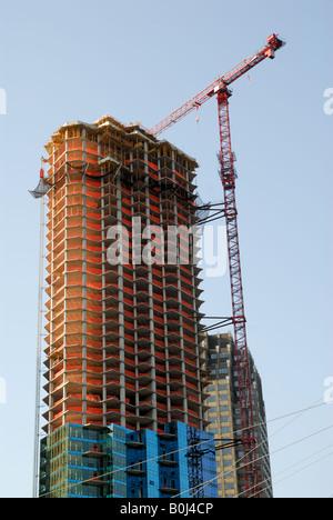 Skyscraper construction site - Stock Photo
