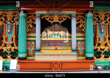 detail of Decap Magistra street organ at annual display in Roermond the Netherlands - Stock Photo