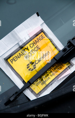 Penalty Charge Notice on windscreen, London, England - Stock Photo