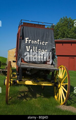 Wagon in Frontier Village Jamestown North Dakota USA - Stock Photo