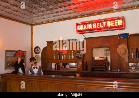 Saloon in Frontier Village Jamestown North Dakota USA - Stock Photo