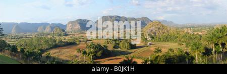 Sweeping view of Valle de Vinales Cuba - Stock Photo