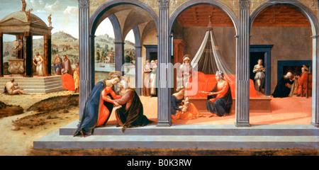'A scene from St John the Bapiste', Detail, c1500-1540. Artist: Francesco Granacci - Stock Photo