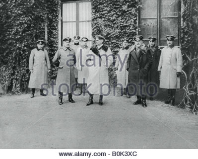 General Alexander von Kluck and other officers, World War I, 1915. - Stock Photo