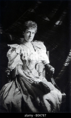 Princess Marie Louise of Schleswig-Holstein (1872-1956), late 19th century. Artist: Russell & Sons - Stock Photo