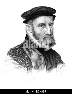 Sir Thomas Gresham, English merchant and financier, (1823). Artist: Unknown - Stock Photo