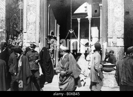 Entrance to Kazimain mosque, Iraq, 1917-1919. - Stock Photo