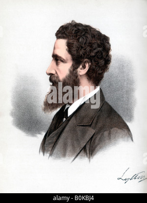 Robert Bulwer-Lytton, 1st Earl of Lytton, English poet and statesman, c1890.Artist: Cassell, Petter & Galpin