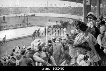 The finish of the marathon, Olympic Games, London, 1908, (c1920). - Stock Photo