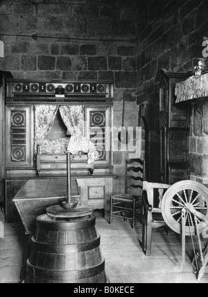 Interior, Dinan, Brittany, France, 1937.Artist: Martin Hurlimann - Stock Photo