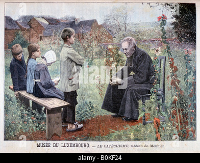 'Catechism', 1898. Artist: L Meunier - Stock Photo