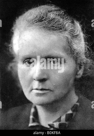 Marie Curie (1867-1934), Polish-born French physicist, 1926. Artist: Unknown - Stock Photo