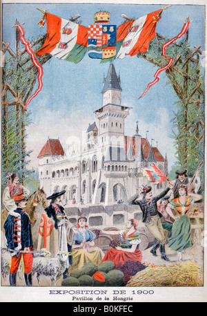 The Hungarian pavilion at the Universal Exhibition of 1900, Paris, 1900. Artist: Unknown - Stock Photo