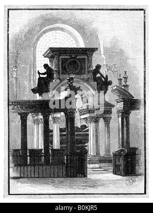 Wellington Monument, St Paul's Cathedral, London, c1888. Artist: Unknown - Stock Photo