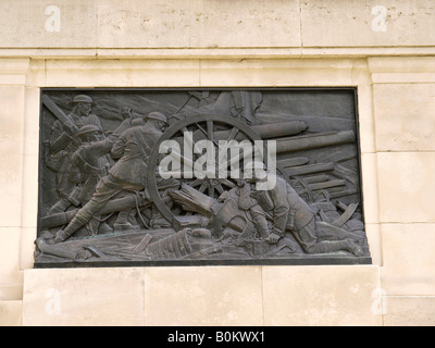Detail of the Guards Division War Memorial erected in 1926 dedicated to the five Foot Guards Regiments of the Great - Stock Photo