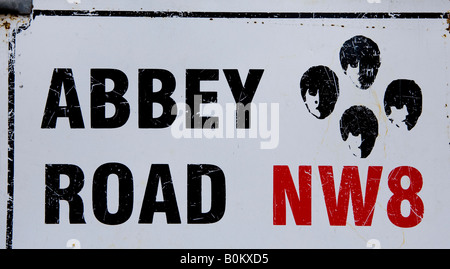 Abbey  Road Street And Road Sign London UK Europe - Stock Photo